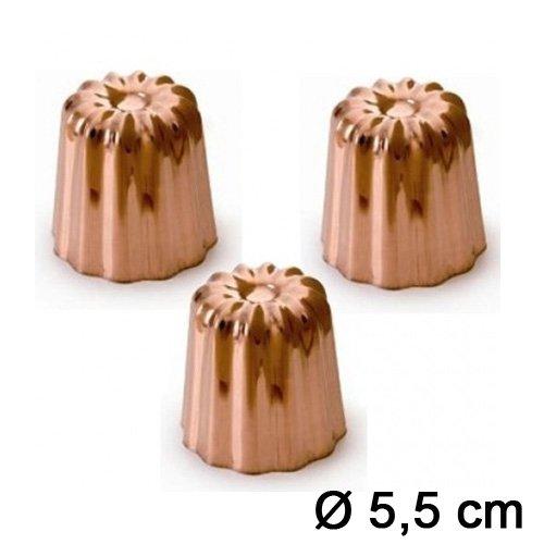 moule cannel bordelais cuivre 5 5 cm x3 chevalier. Black Bedroom Furniture Sets. Home Design Ideas