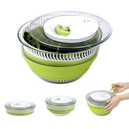 Essoreuse salade r tractable 5 l progressive kookit - Essoreuse salade retractable ...