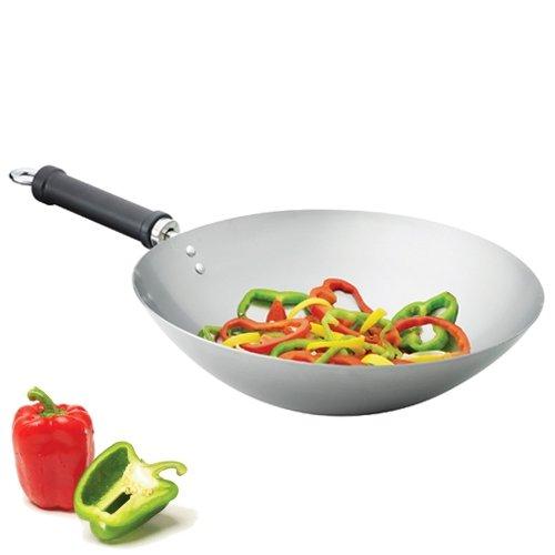 wok acier carbone induction les ustensiles de cuisine. Black Bedroom Furniture Sets. Home Design Ideas