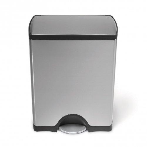 poubelle p dale rectangulaire 50l acier bross. Black Bedroom Furniture Sets. Home Design Ideas