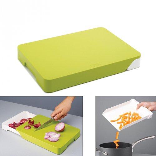 planche d couper avec bac r cup rateur cut collect joseph joseph kookit. Black Bedroom Furniture Sets. Home Design Ideas