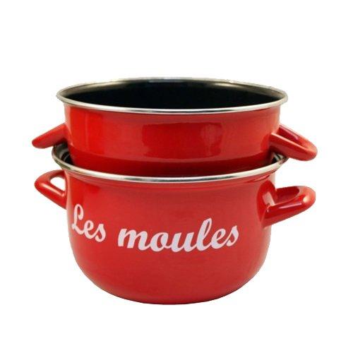 marmite moules rouge 18 cm baumalu kookit. Black Bedroom Furniture Sets. Home Design Ideas