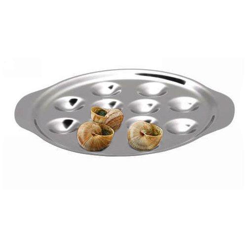 assiette 12 escargots inox chevalier diffusion kookit. Black Bedroom Furniture Sets. Home Design Ideas