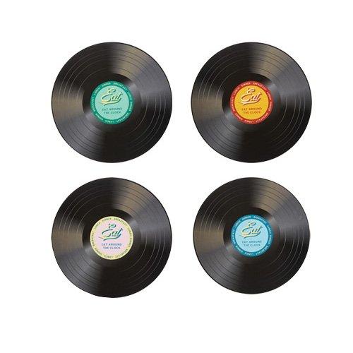 Dessous de verre disque vinyle american diner x4 kitchen craft kookit - Dessous de verre vinyle ...