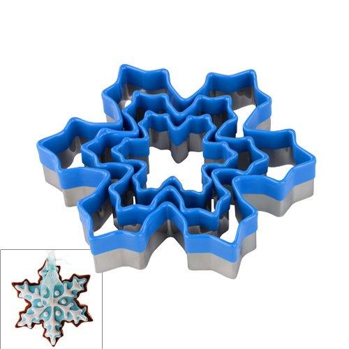 emporte pi ce flocon de neige bleu x3 tala kookit. Black Bedroom Furniture Sets. Home Design Ideas