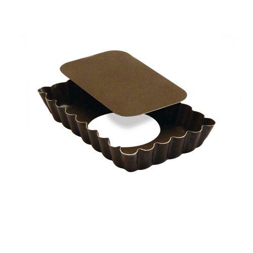 top vente Moule à tartelette rectangle fond amovible acier anti adhésif  12cm x6 4ee48c08c229