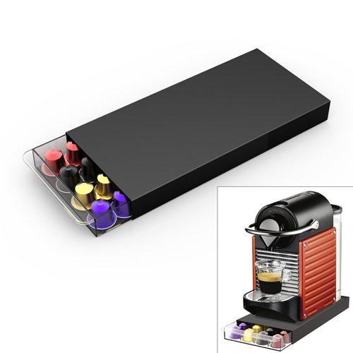 Porte capsules nespresso tiroir cassetto pour 40 dosettes - Support mural pour capsules nespresso ...