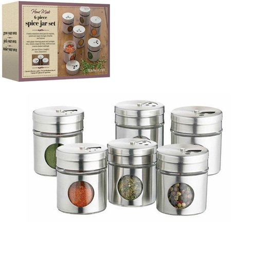 Pot pices inox home made x6 kitchen craft kookit - Pot a epices ...