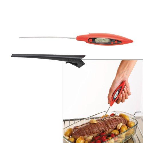 Thermom tre de cuisine rouge kookit accessoires pour la for Termometre cuisine