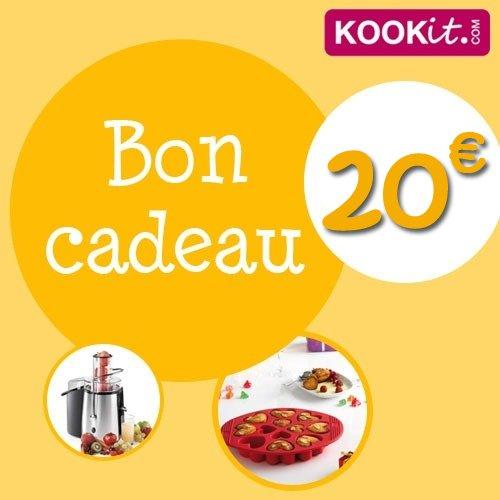 bon cadeau kookit 20 euros kookit bons cadeaux kookit kookit ustensiles de cuisine. Black Bedroom Furniture Sets. Home Design Ideas